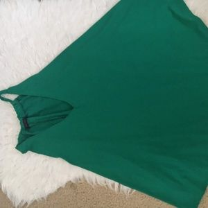 First Love Green Loose Fit Women's Blouse